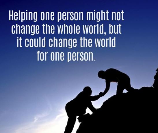 helping one person
